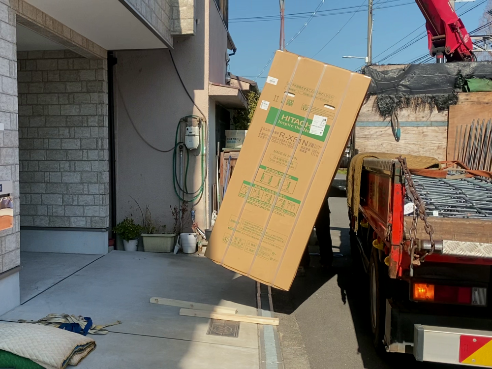 冷蔵庫2F上げ